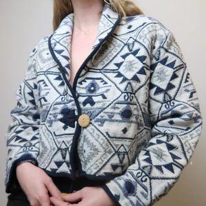 Vintage 80's Keren Hart tapestry jacket size XL